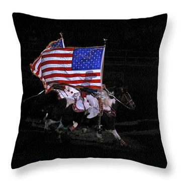 Cowboy Patriots Throw Pillow by Ron White