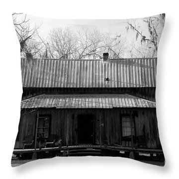 Cracker Cabin Throw Pillow by David Lee Thompson