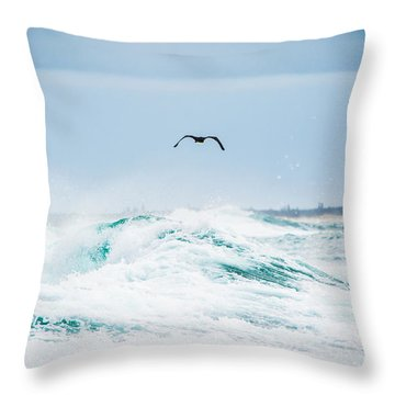 Crashing Waves Throw Pillow by Parker Cunningham