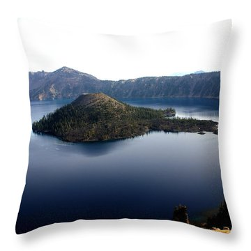 Crater Lake 2 Throw Pillow by Marty Koch