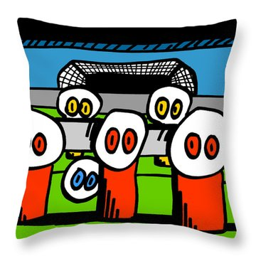 Cronkle Foosball Throw Pillow by Jera Sky