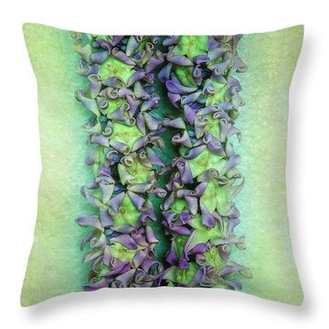 Crown Flower Lei Throw Pillow by Jade Moon