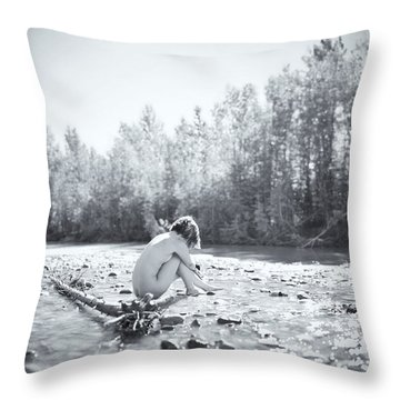 Cry Me A River Throw Pillow by Ian MacDonald