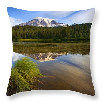 Crystal Clear Throw Pillow by Mike  Dawson