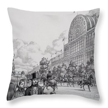 Crystal Palace Throw Pillow by Pat Nicolle