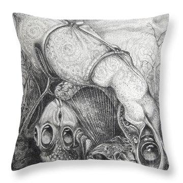 Ctulhu Seedpods Throw Pillow by Otto Rapp