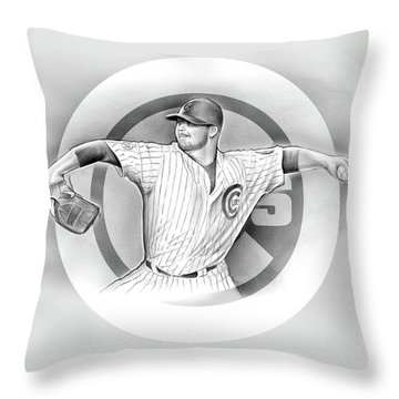 Cubs 2016 Throw Pillow by Greg Joens
