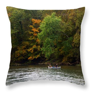 Current River 2 Throw Pillow by Marty Koch