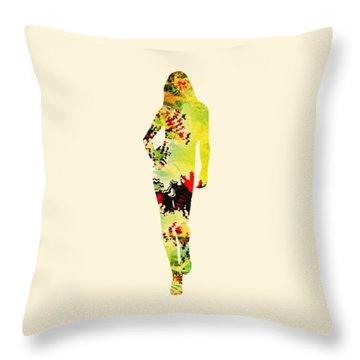 Cute Throw Pillow by Anastasiya Malakhova