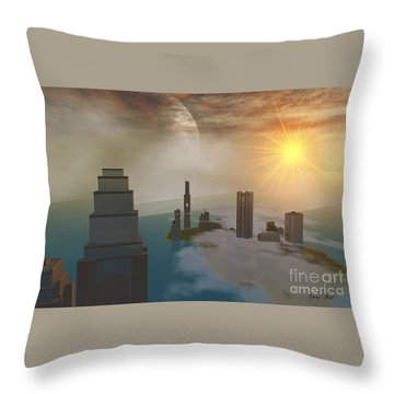 Czar City Throw Pillow by Corey Ford