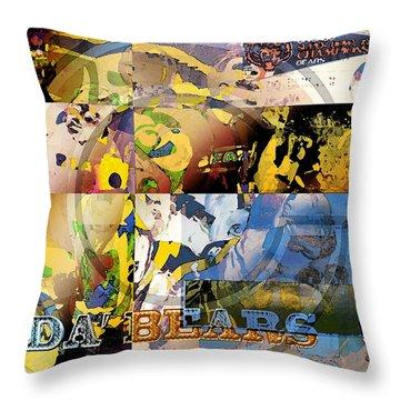 Da Bears V3 Throw Pillow by Jimi Bush