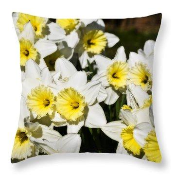 Daffodils Throw Pillow by Svetlana Sewell