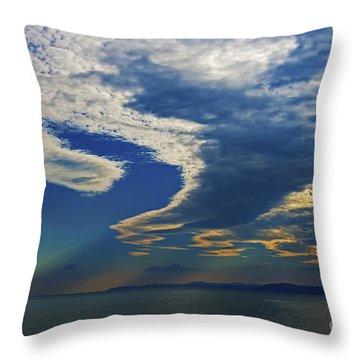 Daily Gratitude... Throw Pillow by Nina Stavlund