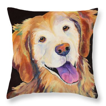 Daisy Throw Pillow by Pat Saunders-White