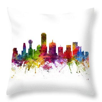 Dallas Cityscape 06 Throw Pillow by Aged Pixel