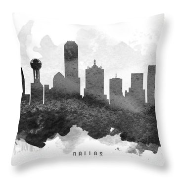 Dallas Cityscape 11 Throw Pillow by Aged Pixel