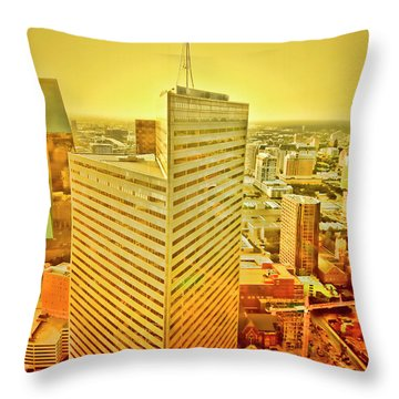 Dallas Gold Throw Pillow by Douglas Barnard