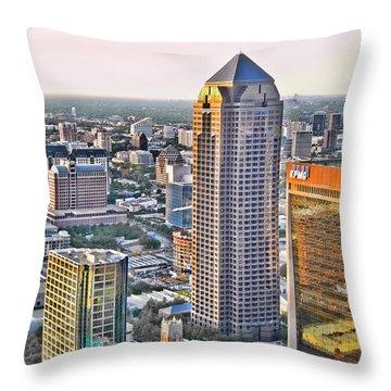 Dallas Hdr Throw Pillow by Douglas Barnard