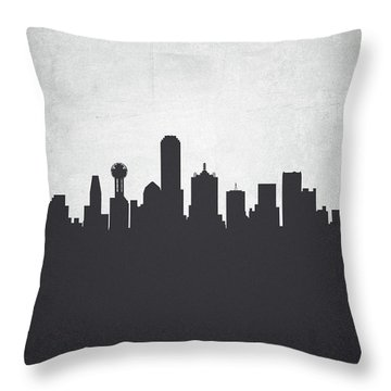 Dallas Texas Cityscape 19 Throw Pillow by Aged Pixel