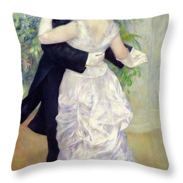 Dance In The City Throw Pillow by Pierre Auguste Renoir