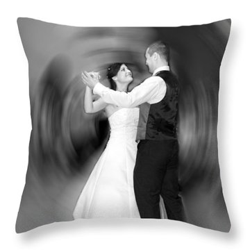 Dance Of Love Throw Pillow by Daniel Csoka