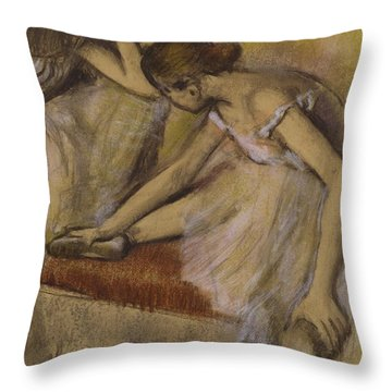 Dancers In Repose Throw Pillow by Edgar Degas