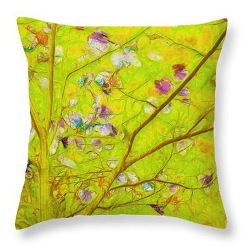 Dancing In The Wind 01 - 343 Throw Pillow by Variance Collections