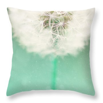 Dandelion Seed Throw Pillow by Kim Fearheiley