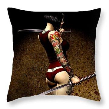 Dangerously Sharp Throw Pillow by Alexander Butler