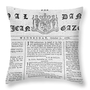Danish West Indies 1772 Throw Pillow by Granger
