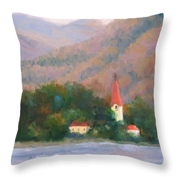 Danube Autumn Throw Pillow by Bunny Oliver