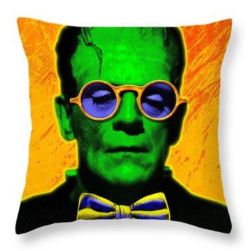 Dapper Monster Throw Pillow by Gary Grayson