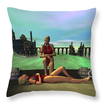 Dark Passion Throw Pillow by Corey Ford