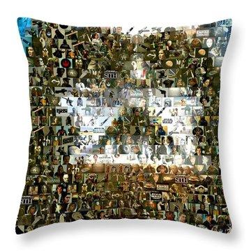 Darth Vader Mosaic Throw Pillow by Paul Van Scott