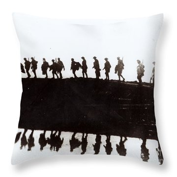 Dawn March Throw Pillow by Private Collection