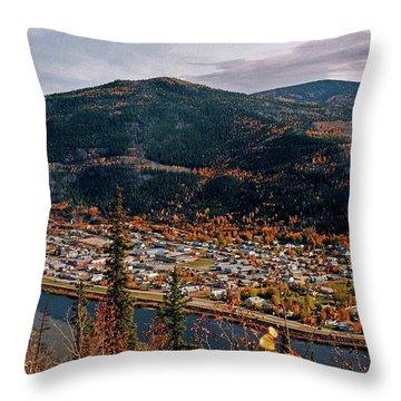 Dawson City - Yukon Throw Pillow by Juergen Weiss