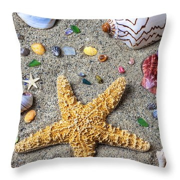 Day At The Beach Throw Pillow by Garry Gay