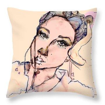 Daydreaming. Throw Pillow by Zara Ali
