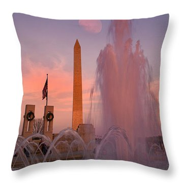 Dc Sunset Throw Pillow by Betsy Knapp