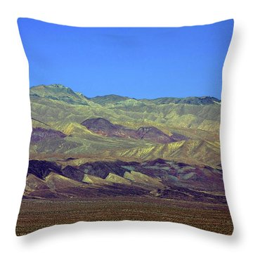 Death Valley - Land Of Extremes Throw Pillow by Christine Till