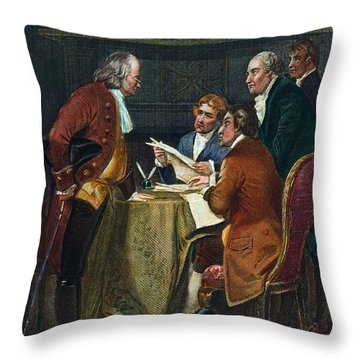 Declaration Committee Throw Pillow by Granger