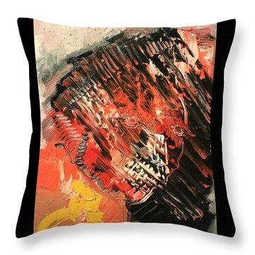 Declaration Of War Self Portrait Throw Pillow by Michael Kulick