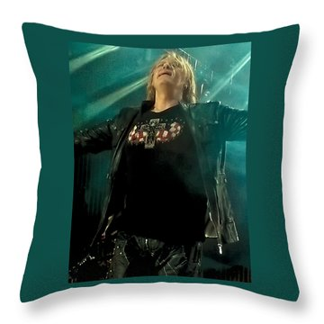 Def Lappard's Joe Elliott Throw Pillow by David Patterson
