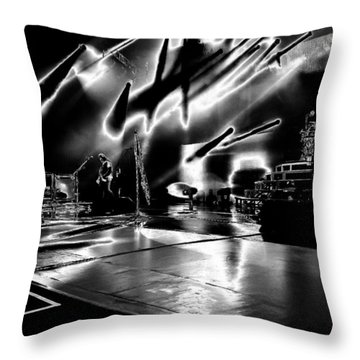 Def Leppard At Saratoga Springs 5 Throw Pillow by David Patterson