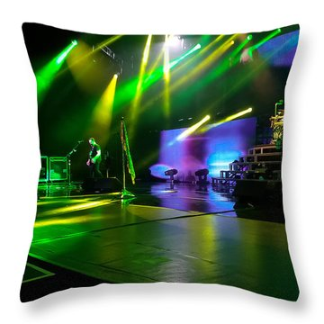 Def Leppard At Saratoga Springs Throw Pillow by David Patterson