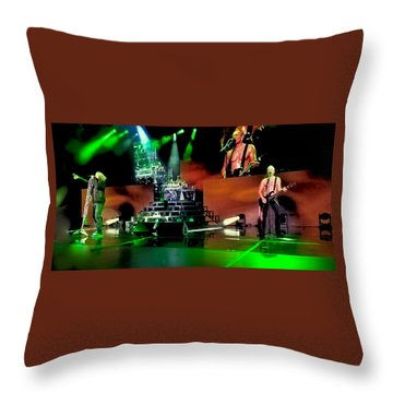 Def Leppard On Stage Throw Pillow by David Patterson