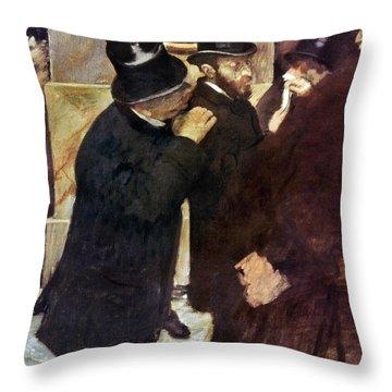 Degas: Stock Exchange Throw Pillow by Granger