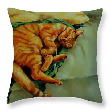 Delicious Sleep Throw Pillow by Jolante Hesse