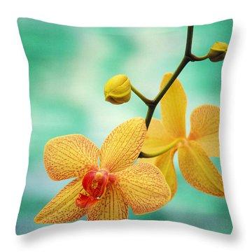 Dendrobium Throw Pillow by Allan Seiden - Printscapes