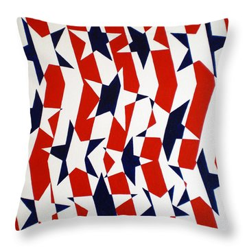 Dennis Conner II Throw Pillow by Oliver Johnston